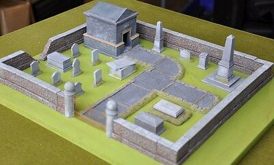 New Miniature Unpainted Resin Cemetery Set Ainsty Dwarven Forge D&D