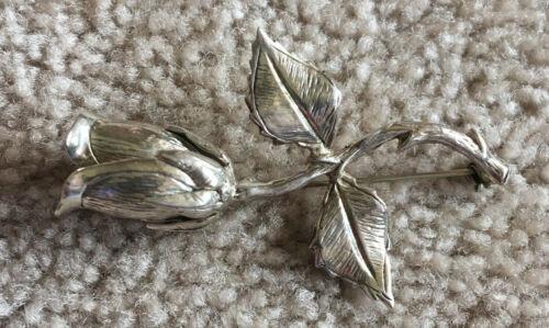 Vintage .925 flower brooch, Rose