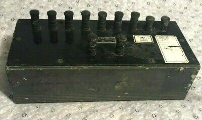 Vintage Leeds Northrup Co Potentiometer Model 7591 Volt Box Made In Usa