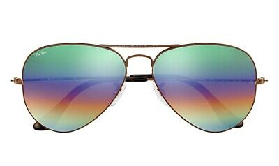 Ray Ban Aviator RainBow Flash Lens  3025 9018/C3 (Ray Ban Aviator Color Lenses)