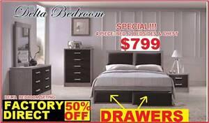 BRAND NEW BED Queen Plus Tallboy+Bedsides $799. RENTAL OPTION. Ipswich Region Preview