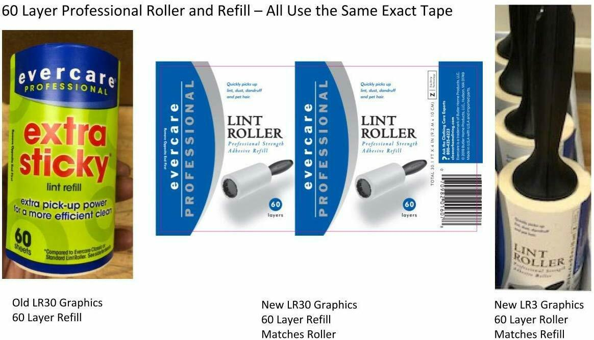 Professional Extra Sticky Lint Remover Roller Refill, 3 Ct.1