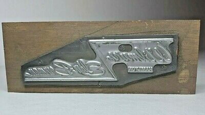 Ohio Dept Store Wilmurs Hamilton Elder-beerman Letterpress Print Wood Block