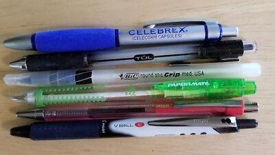 Vintage pen lot Celebrex Pharmaceutical Bic Tul Papermate Pilot V Ball Better