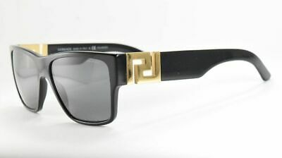 Versace 4296 GB1/81 Black Gold / Gray Polarized Rectangle Sunglasses