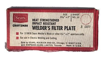 Vintage Sears Craftsman Heat Strengthened Impact Welders Filter Plate For Mask