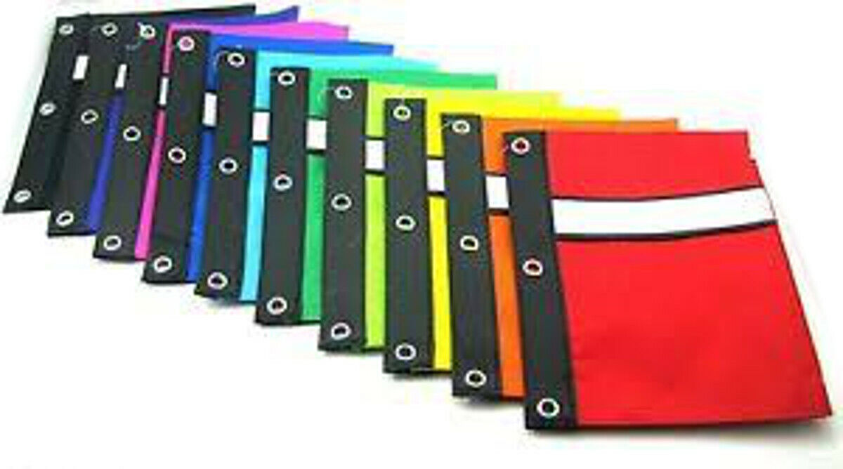 BAZIC Pencil Case Pouch 3-Ring With White Strip #802