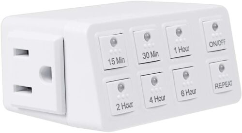 BN- LINK smart digital countdown timer with repeat function for fun, lights