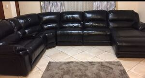 High quality real leather modular/corner recliners lounge suite Mirrabooka Stirling Area Preview