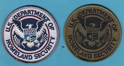 US DEPT. HOMELAND SECURITY 2 SHOULDER PATCH SET (color/subdued)