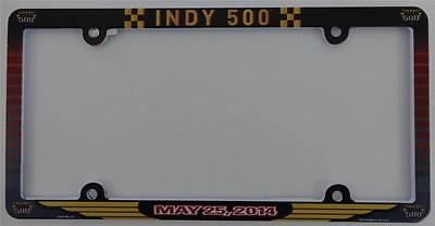 2014 Indianapolis 500 Collector Event License Plate Frame