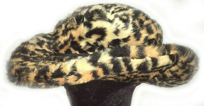 Jaguar Club Cowboy Cheetah Animal Print Pimp Costume Furry Adult Fuzzy Party Hat