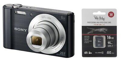 Sony Cybershot DSC-W810 Schwarz inkl. 16GB SDHC ! W 810 W810B + Zubehörpaket