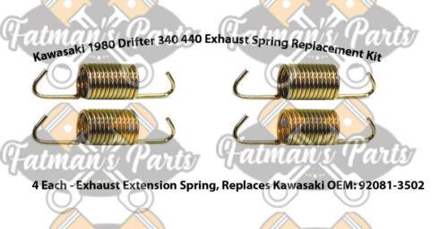 Kawasaki 1980 Drifter Snowmobile Exhaust Spring Replacement Kit