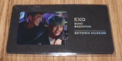 EXO SMTOWN MUSEUM OFFICIAL GOODS SUHO BAEKHYUN BOOKMARK SEALED