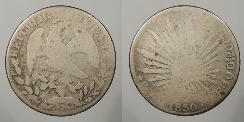 MEXICO: 1850-Go PF 8 Reales #WC82564
