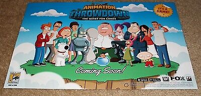 "ANIMATION THROWDOWN 11/""x17/"" Original Promo Game Poster SDCC 2017 Quest for Cards"