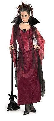 Burgundy Gothic Vampira Adult Costume - Gothic Vampira Costume
