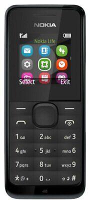 NEW NOKIA 105 - BLACK or BLUE - UNLOCKED PHONE - UK WARRANTY - FREE SIM