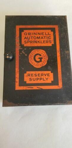 Grinnell Antique Vintage Fire Sprinkler Heads Supply Box,12 Heads