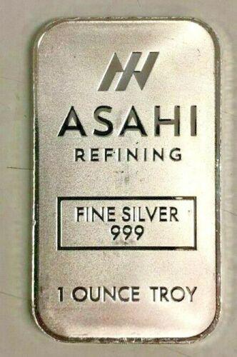 1 oz Silver Asahi .999 Fine Silver Bar