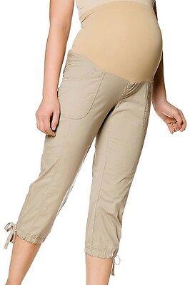 Motherhood Maternity SMALL Capris NEW NWT Secret Fit Khaki Capri Pants S 4 6