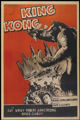 King Kong Fay Wray 1933 cult horror movie poster item print 7