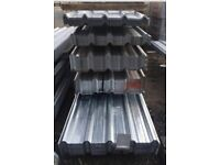 Various sized box profile galvanised roof sheets