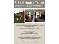 Modern 3 Bedroom House to let in Little Haywood