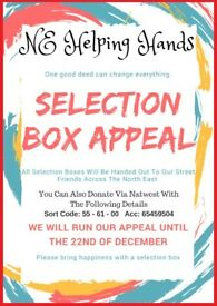 Selection Box Appeal For The Homeless