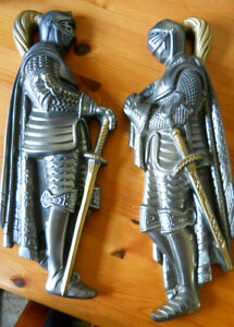 50'S 60'S VINTAGE MEDIEVAL KNIGHTS PLASTER WALL CASTS