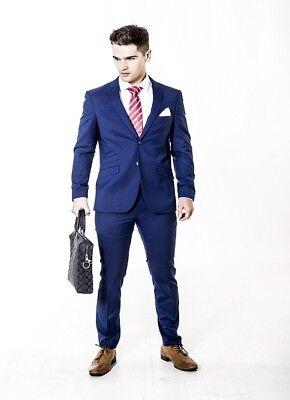 Mens slim fit suit in Blue Navy ideal smart wear Wholesale Price work wedding