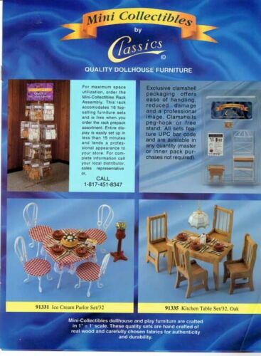 1994 Mini Collectibles by Classics Quality Dollhouse Furniture Catalog