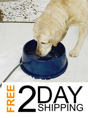 Electric Heated Pet Dog Drinking Bowl, Heated Water Dish Winter Outdoor Safety
