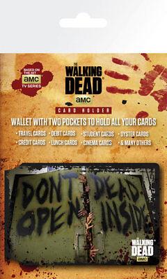 The Walking Dead Dead Inside TV Zombies TWD Card Holder Travel Oyster Wallet