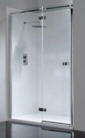 April Prestige2 Frameless Hinged Shower Door 1400mm Wide Right Handed