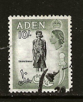 ADEN  (Z-969) 1953 SG69 10/- KEY VALUE PICTORIAL GOOD TO FINE USED