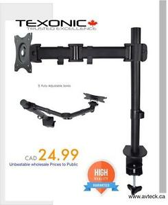 Desk Monitor Arm $24.99 Dual Arm $39.99