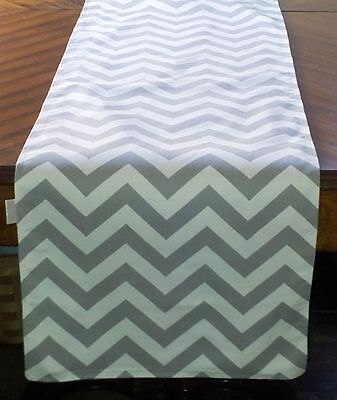 Grey Table Runners (lovemyfabric Poly Cotton Gray & White Chevron Table Runner 12