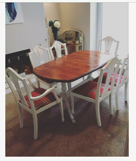 Upcycled Dining Room Table With 6 Chairs