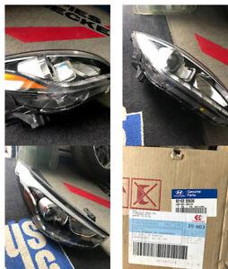 10-14 Hyundai Tucson Dual Projector LED SIGNAL DRL Black Head Li