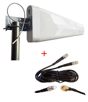 At T Wireless Internet Zte Mf279 Hotspot External Log Periodic Yagi Antenna