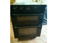 Hotpoint build under electric double oven with grill