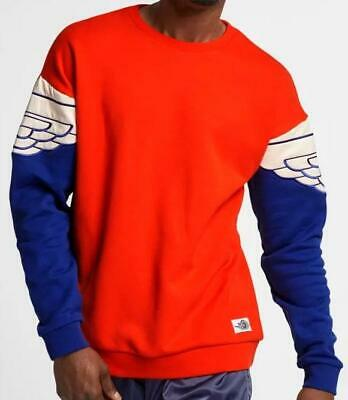AIR JORDAN WINGS CLASSIC CREW SWEATSHIRT AO0426 891 TEAM ORANGE/DEEP ROYAL BLUE Air Wing Crew Sweatshirt