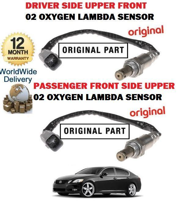 FOR LEXUS GS300 GS450H 460 05-2011 LEFT + RIGHT 2x UPPER 02 OXYGEN LAMBDA SENSOR