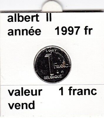 FB 2 )pieces de albert II  1 francs 1997   belgique