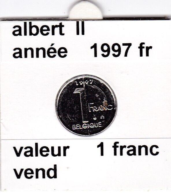 FB 2 )pieces de albert II  1 francs 1997   belgique