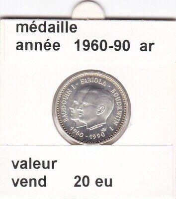 FB 3 )pieces de baudouin I médaille  1960-90 ar