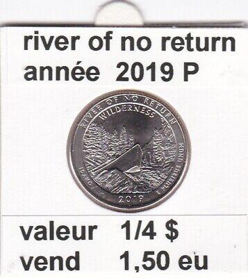 e 3 )pieces de 1/4 dollar river of no returm   2019  P ( wilderness)
