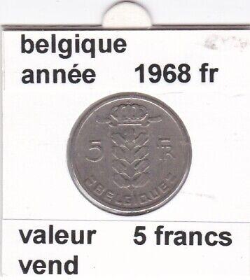 BF 2 )pieces de 5 francs baudouin I 1968 belgique